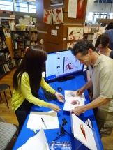 Misako Oba at Artbook [FAUSTUS] Talk and Book Signing event.